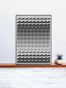 Razor Geometric Print on a shelf