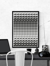 Load image into Gallery viewer, Razor Geometric Print on a wall