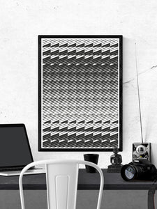 Razor Geometric Print on a wall