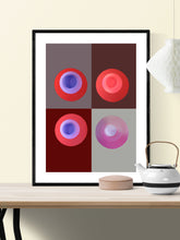 Load image into Gallery viewer, Red Minimal Art Print in traditional room