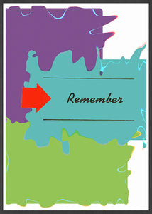 Remember Whats Coming Minimal Art Print in a frame