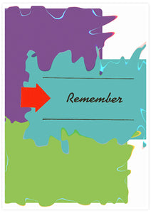 Remember Whats Coming Minimal Art Print not in a frame