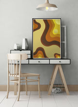 Load image into Gallery viewer, Retro Invasion Art Poster in a stylish studio room