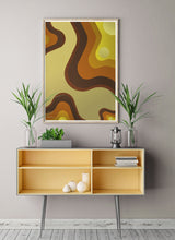 Load image into Gallery viewer, Retro Invasion Art Poster on wall in a trendy room
