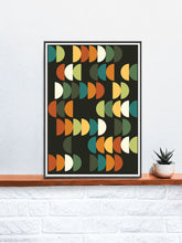 Load image into Gallery viewer, Retro Scales 2 Retro Poster Art Print in a frame on a shelf