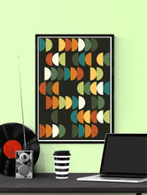 Load image into Gallery viewer, Retro Scales 2 Retro Poster Art Print in a frame on a wall
