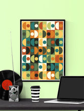 Load image into Gallery viewer, Retro Scales 3 70s Retro Wall Art in a frame on a wall