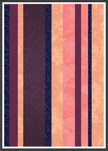 Load image into Gallery viewer, Retro Stripes Stripe Pattern Art Print in a frame