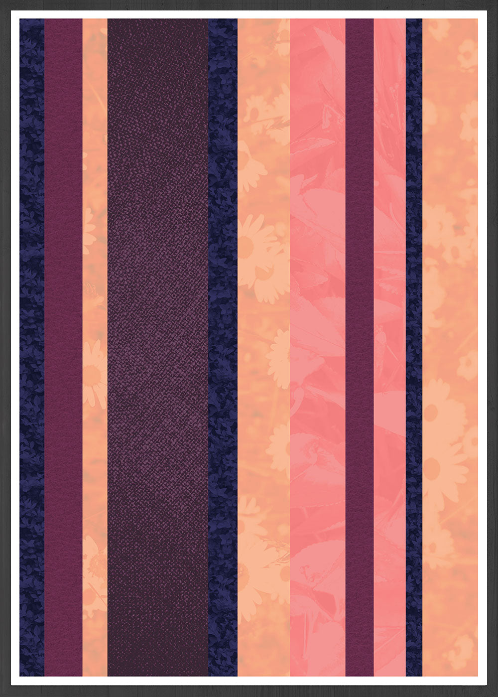 Retro Stripes Stripe Pattern Art Print in a frame