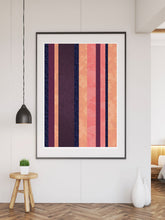Load image into Gallery viewer, Retro Stripes Stripe Pattern Art Print large print on a wall