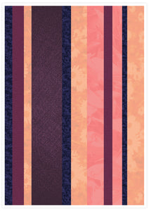 Retro Stripes Stripe Pattern Art Print not in a frame