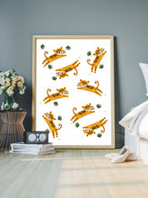 Load image into Gallery viewer, Roar Tiger Illustration Print in a bedroom
