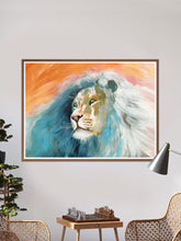 Load image into Gallery viewer, Roar Lion Painting Print in a lounge seating area