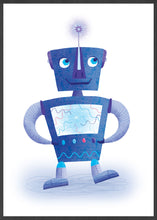 Load image into Gallery viewer, Robot Kids Robot Art Print in a frame