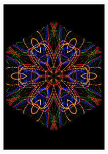 Sacred Heart Mandala Print not in a frame