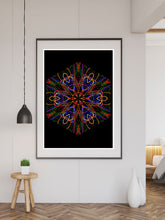 Load image into Gallery viewer, Sacred Heart Mandala Print in a frame on a wall