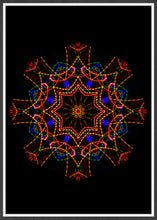 Load image into Gallery viewer, Sacred View Mandala Print in a frame