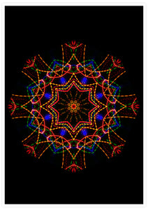 Sacred View Mandala Print not in a frame