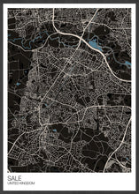 Load image into Gallery viewer, Sale Trafford Map Print black variant