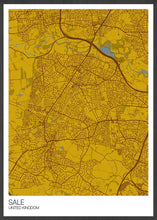 Load image into Gallery viewer, Sale Trafford Map Print Mustard Variant