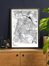 Load image into Gallery viewer, Sale Trafford Map Print in a trendy room