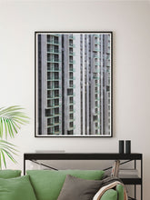 Load image into Gallery viewer, Lightbox City Building Print in a Modern Room Interior