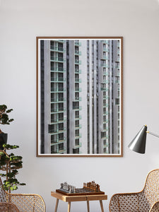 Lightbox City Building Print In a Traditional Room