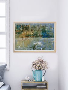 Seizo Abstract Art Print in a modern room interior