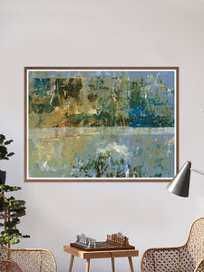 Seizo Abstract Art Print in a lounge area