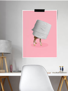 Self Isolation Funny Art Print