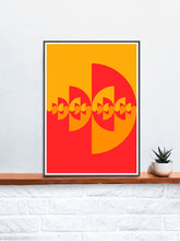 Load image into Gallery viewer, Sigil Fire Artwork Print in a frame on a shelf