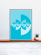 Load image into Gallery viewer, Sigil Water Pattern Art Print in a frame on a shelf