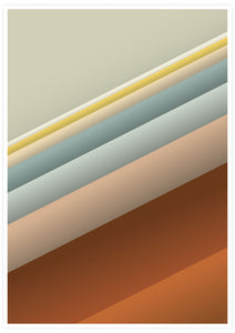 Slide Style Vintage Abstract Print