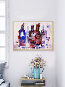 Soanne Fine Art Poster in a room interior on the wall