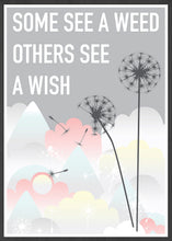 Load image into Gallery viewer, Weed and Wish Dandelion Botanical Print in a frame
