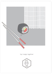 Soy Happy Together Sushi Wall Art not in a frame
