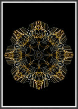 Load image into Gallery viewer, Space Odyssey Mandala Print in a frame