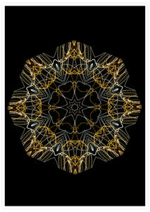 Space Odyssey Mandala Print not in a frame