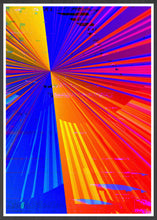 Load image into Gallery viewer, Spectre Colourful Abstract Art Print in a frame