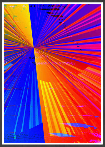 Spectre Colourful Abstract Art Print in a frame