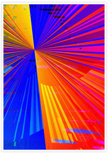 Spectre Colourful Abstract Art Print no frame
