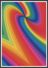 Load image into Gallery viewer, Spectrum Art Print Pattern in frame