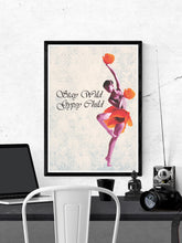 Load image into Gallery viewer, Stay Wild Gypsy Child Child Dancer Art Print in a frame on a wall