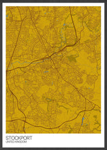 Load image into Gallery viewer, Stockport City Map Wall Art in a frame