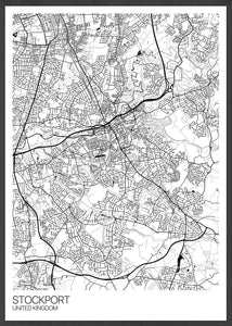 Stockport City Map Wall Art Line Art