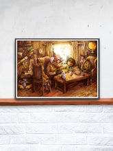 Load image into Gallery viewer, Stories with Grandfather Kids Wall Decor in a frame on a Shelf