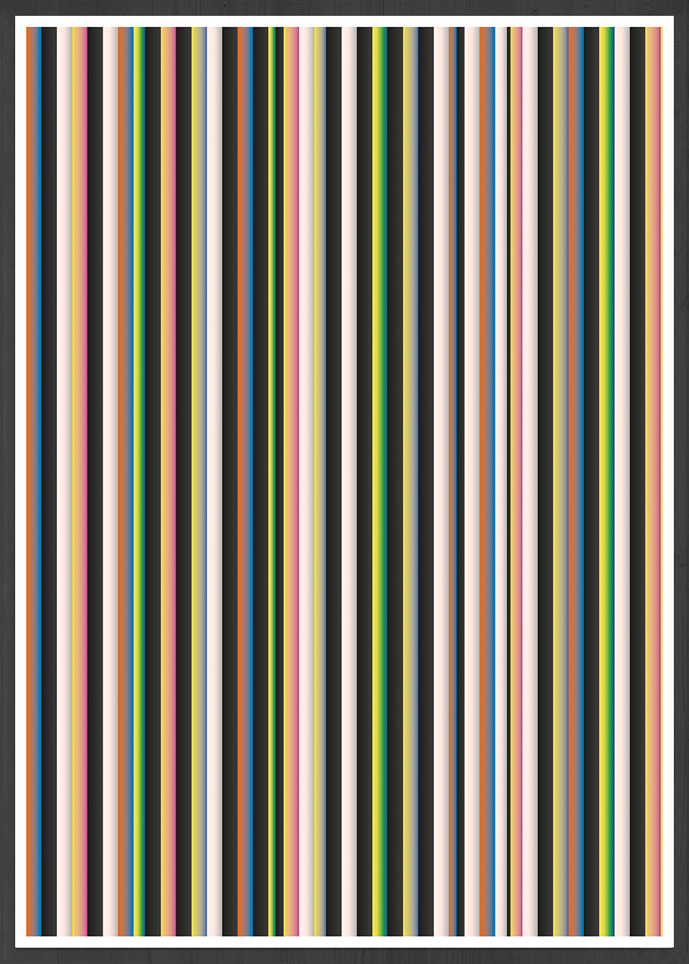 Stripes Print Digital Line Wall Art in a frame