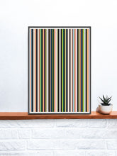 Load image into Gallery viewer, Stripes Print Digital Line Wall Art on a shelf