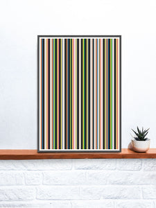 Stripes Print Digital Line Wall Art on a shelf