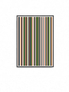 Stripes Print Digital Line Wall Art on a wall